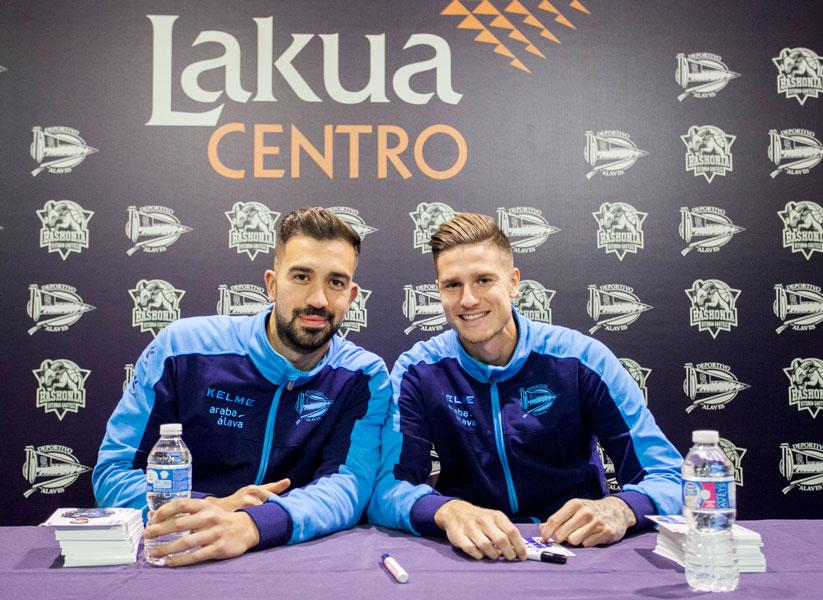 Pacheco y Vigaray visitan Lakua Centro